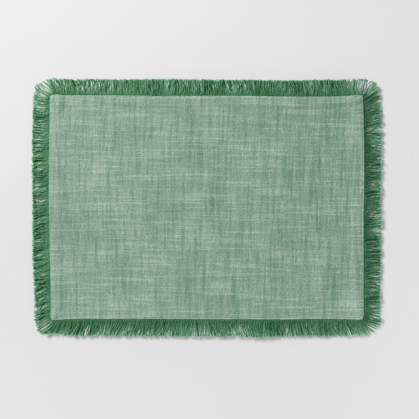 Green Chambray Fringe Placemats