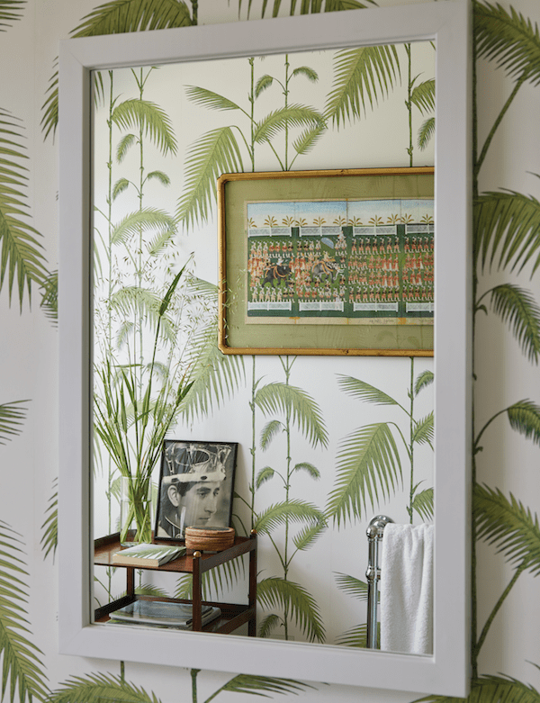 A Slice of England India Hicks Palm Tree Wallpaper