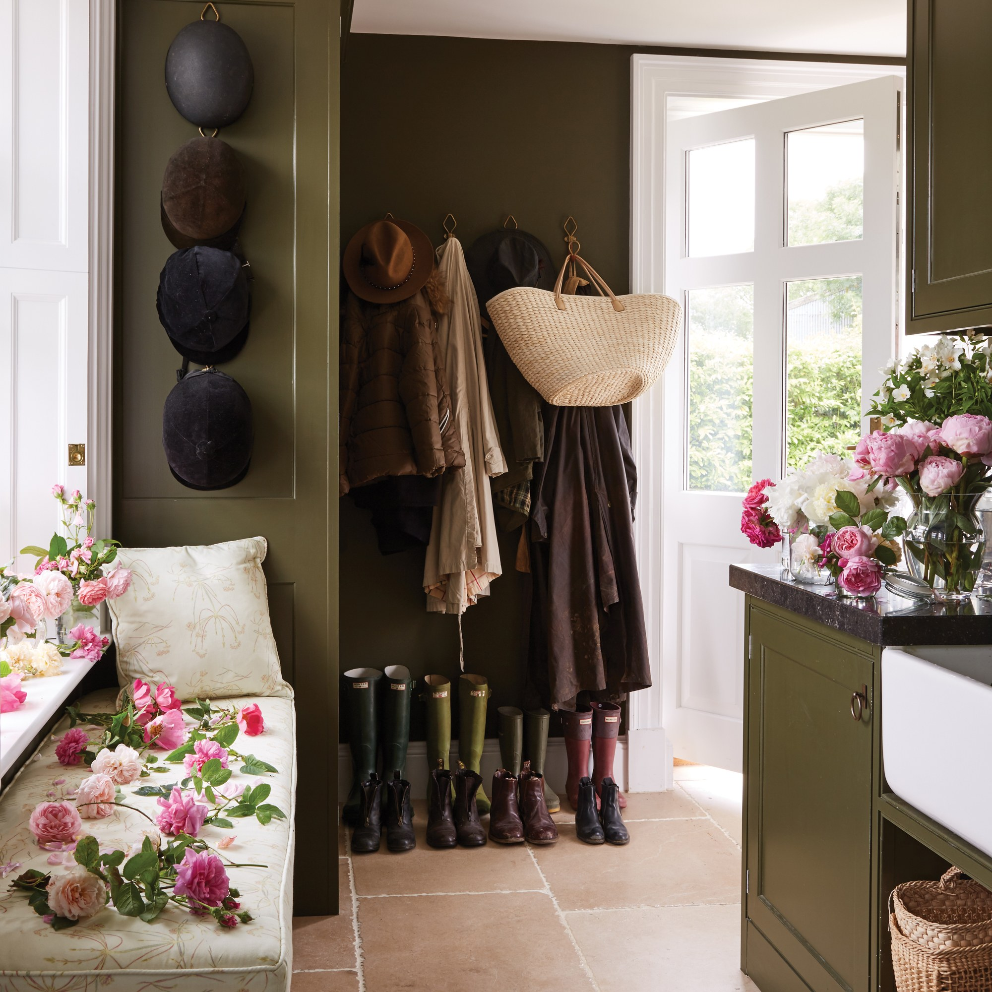 A Slice of England India Hicks Green Mud Room