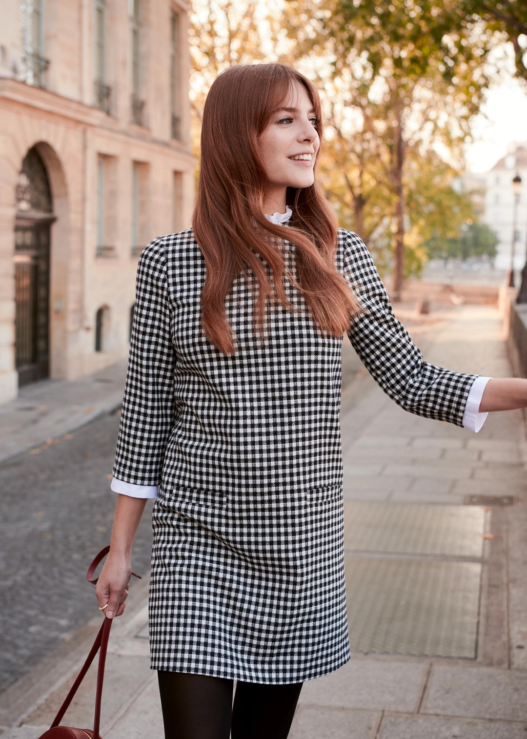 Gingham Straight Dress