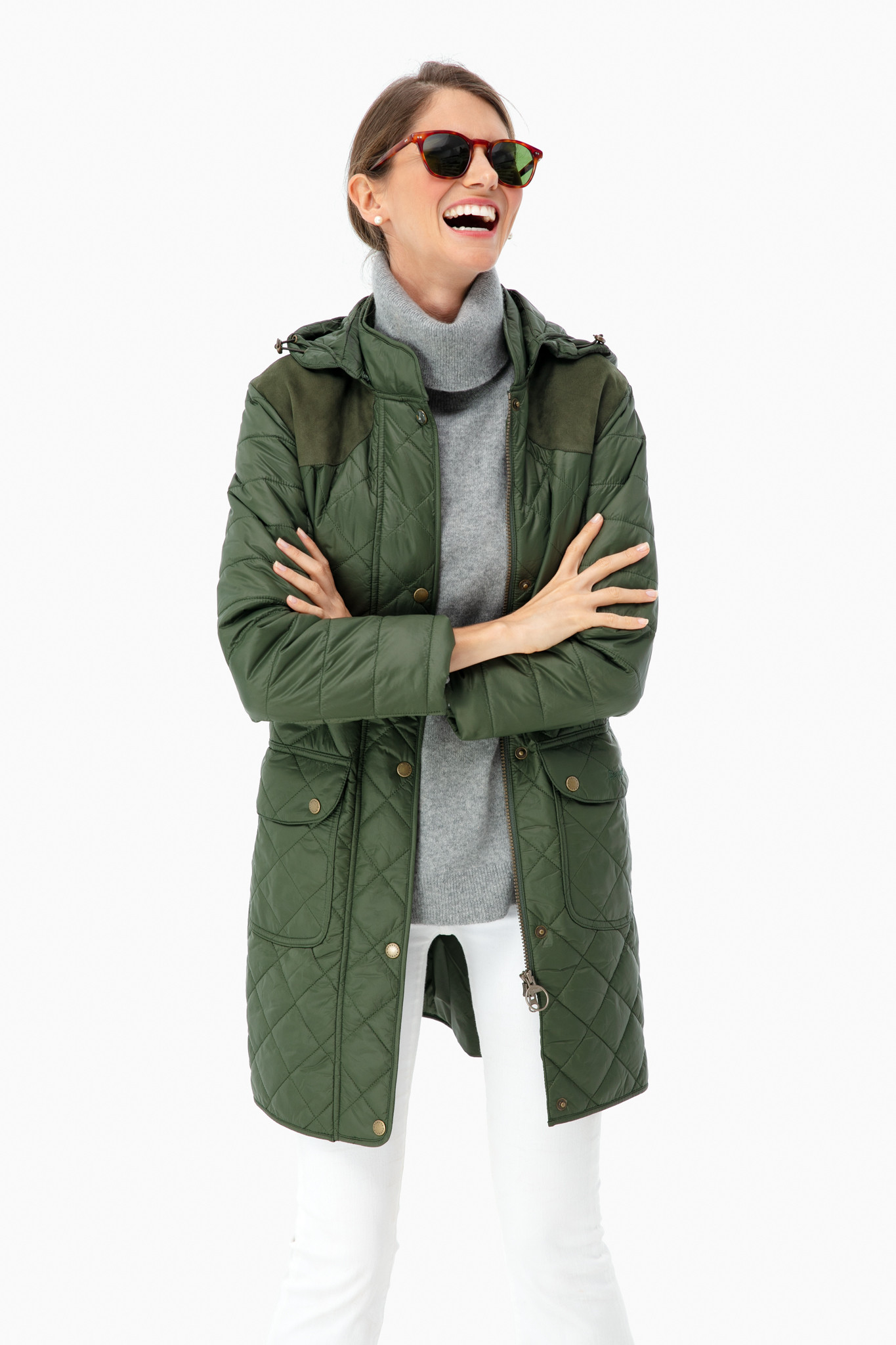 Green Quilted Barbour Jacket
