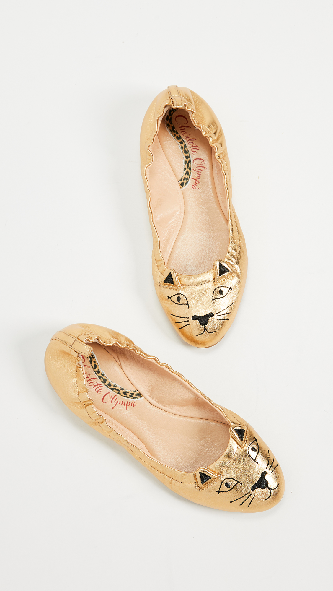 Gold Kitty Flats