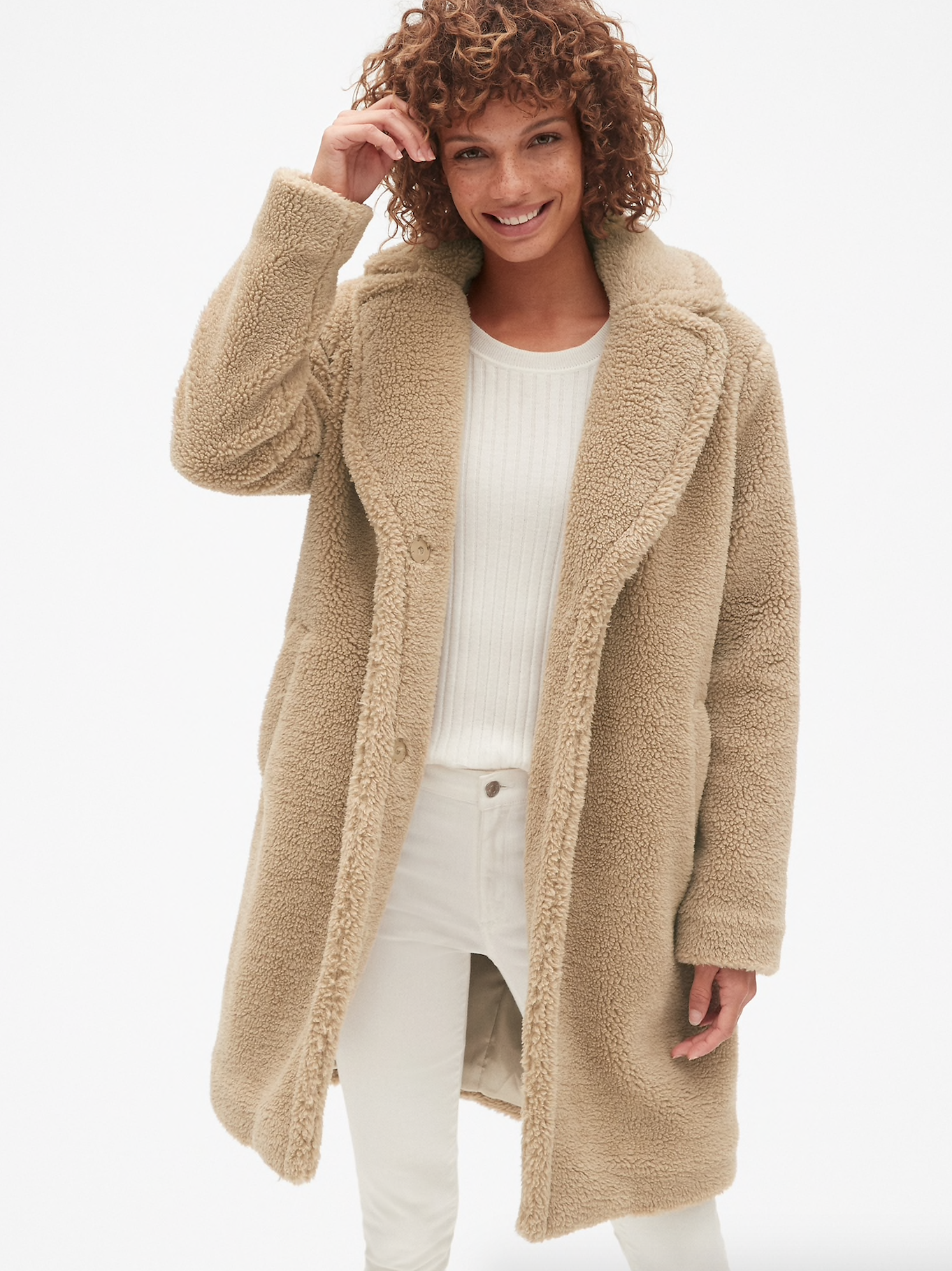 Long Teddy Sherpa Coat