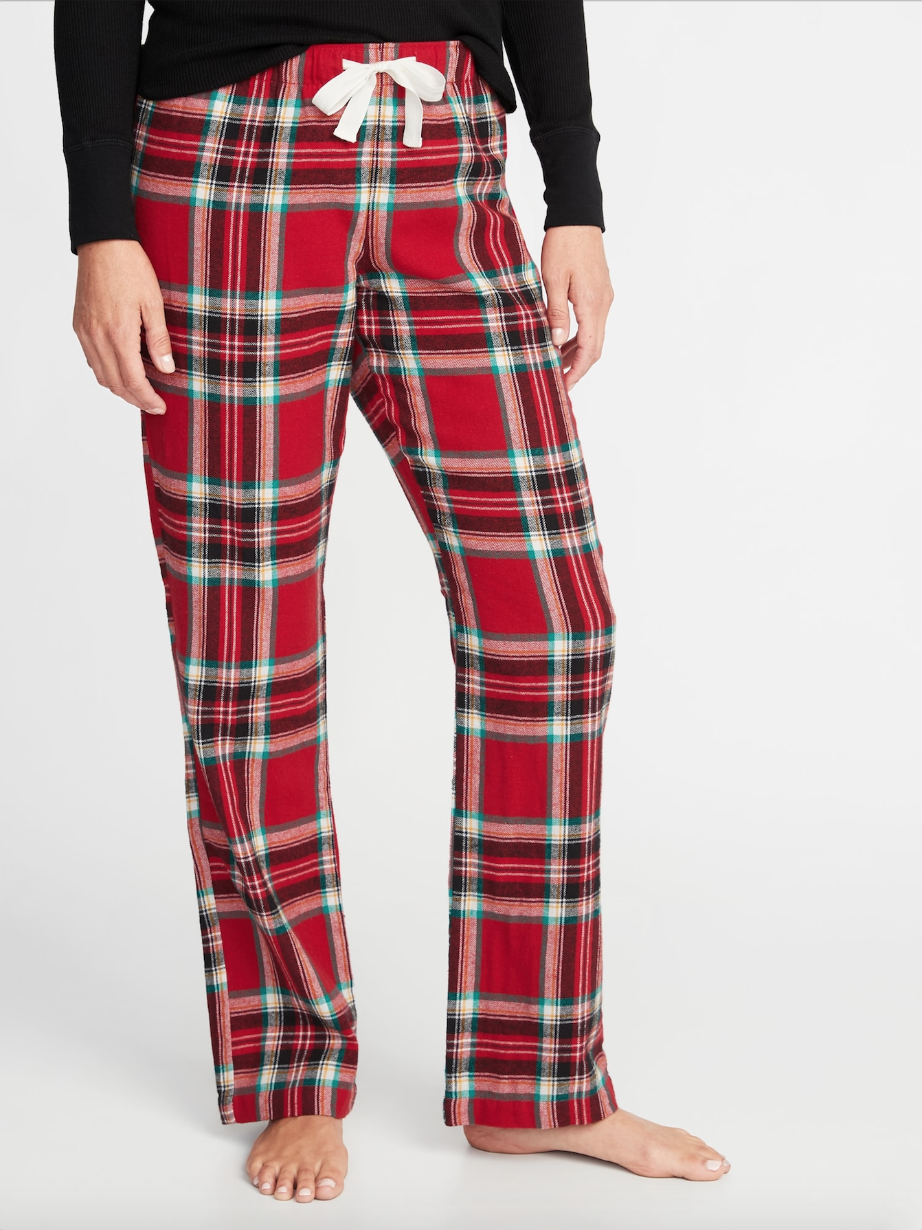 patterned-flannel-sleep-pants-striaght-let-old-navy-tie-at-waist-red ...