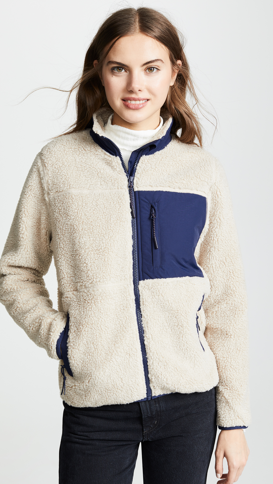 Penfield Mattawa Fleece Jacket Women's Navy Blue White