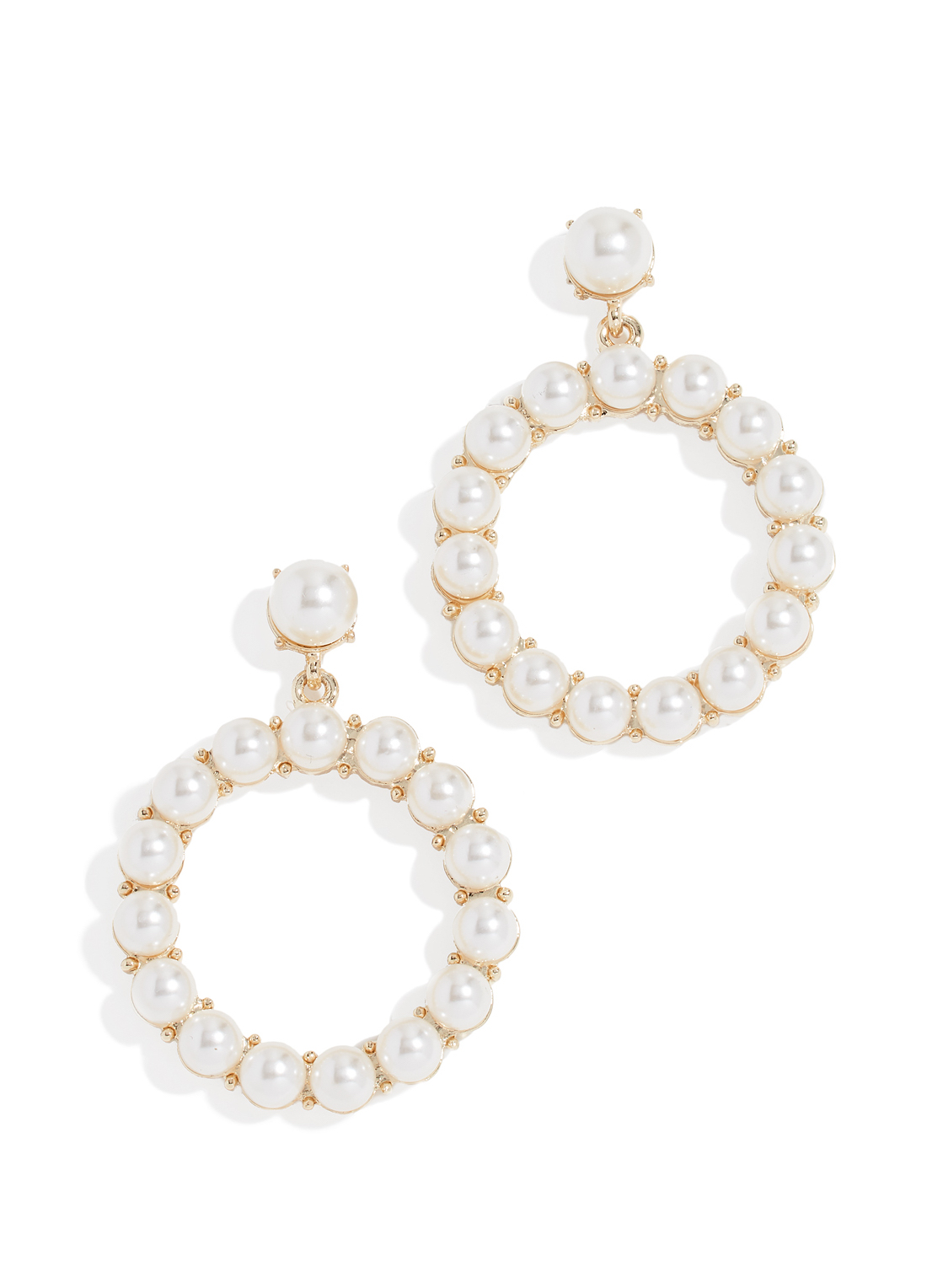 Stella Ruby Glass Pearl Hoop Earrings