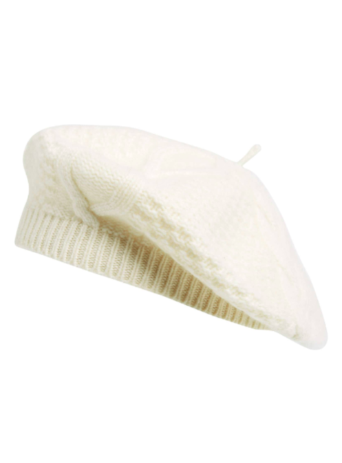 white-cable-knit-cashmere-beret-hat-french-girl-fashion-style ... 93425107f04