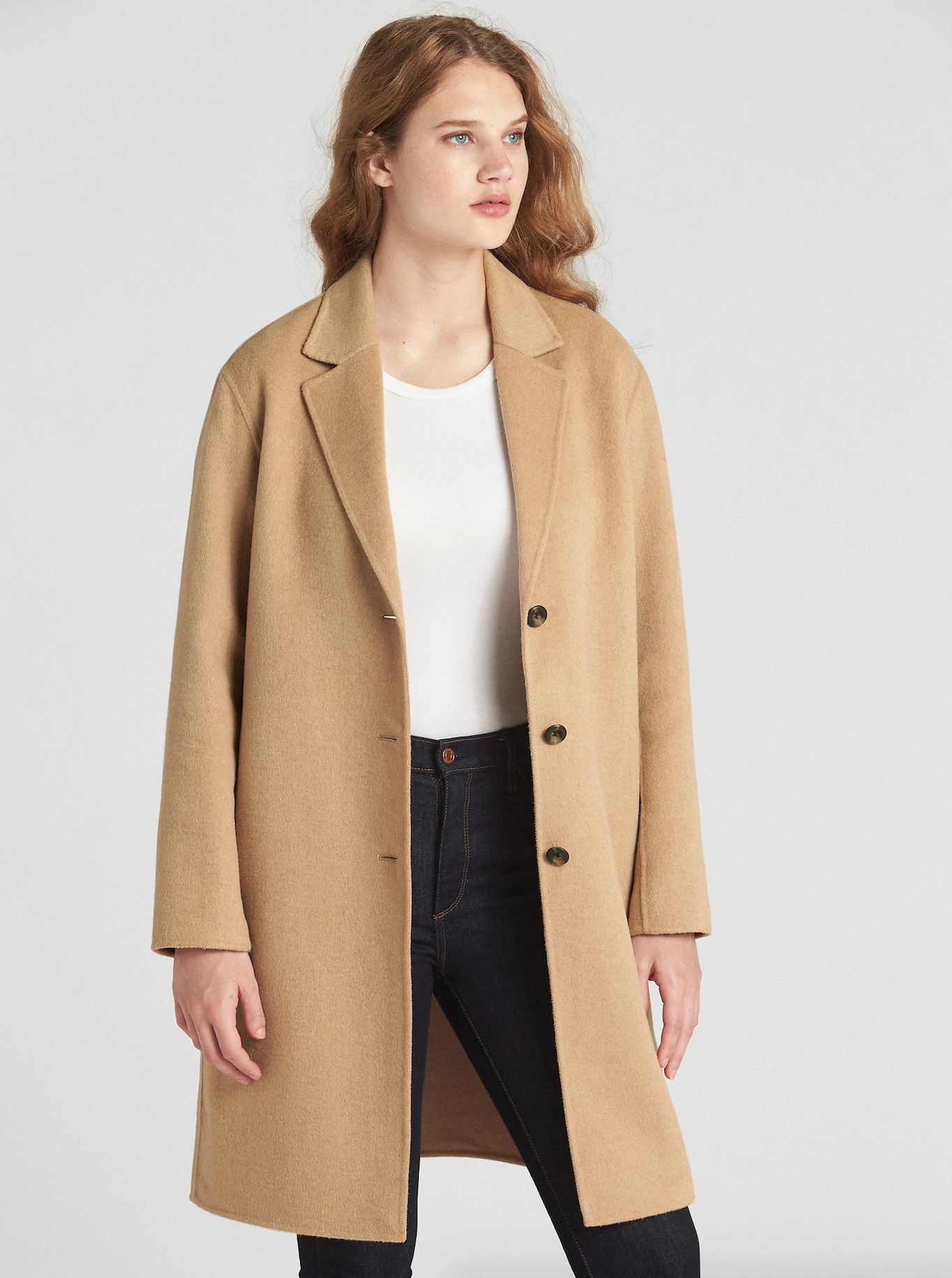 Camel Wool Car Coat