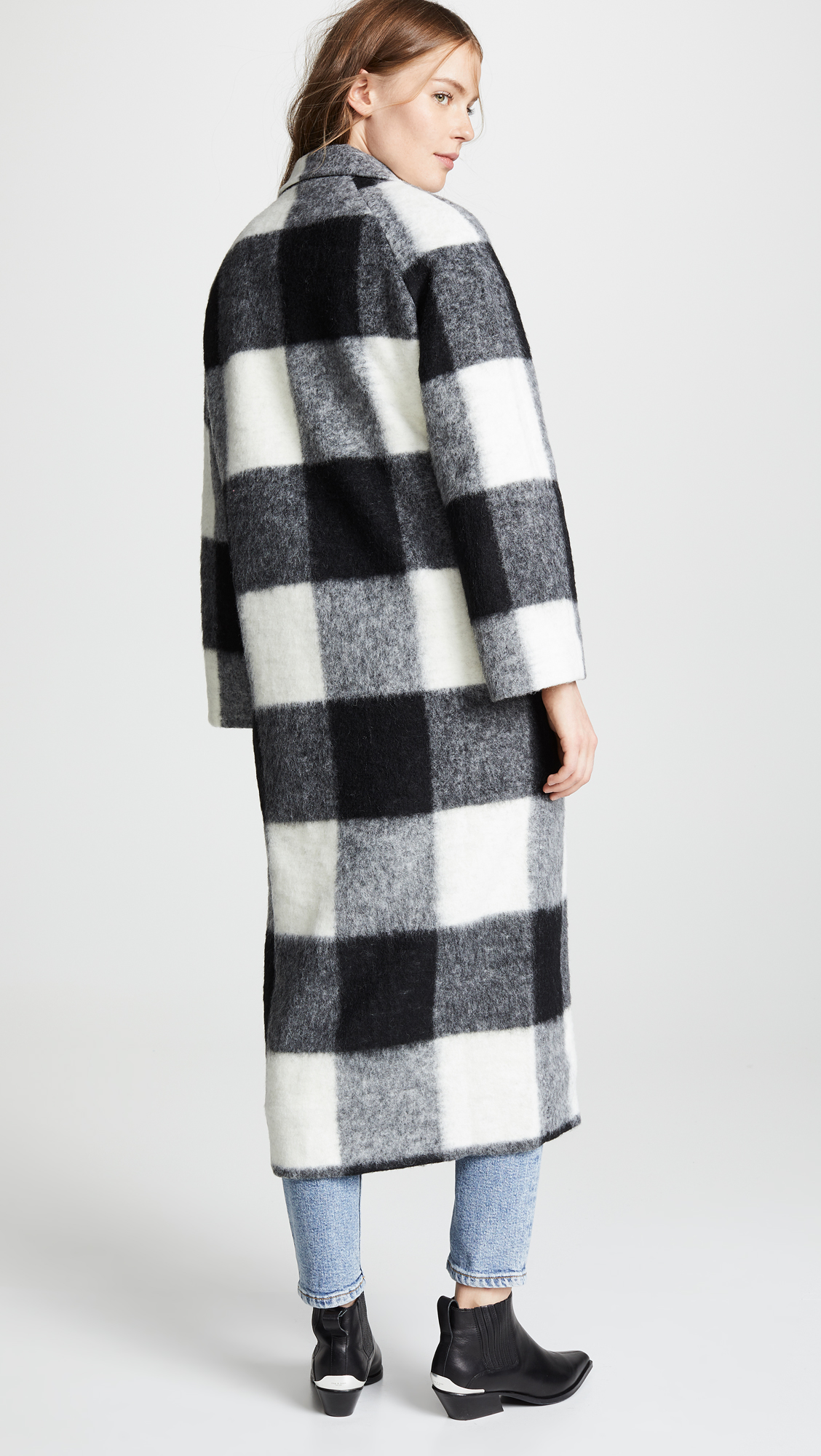 Check Pattern Wool Coat