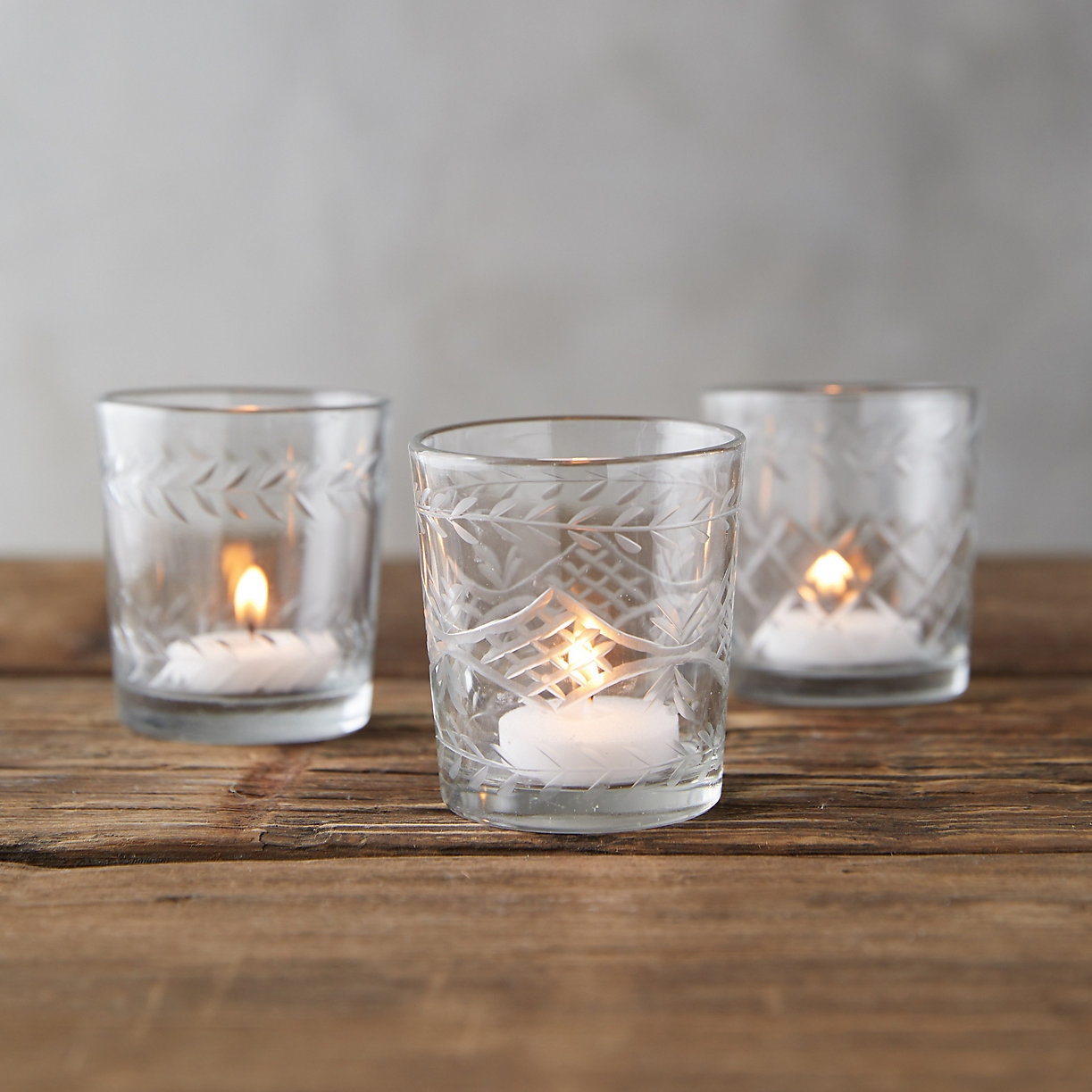Cut Glass Votives
