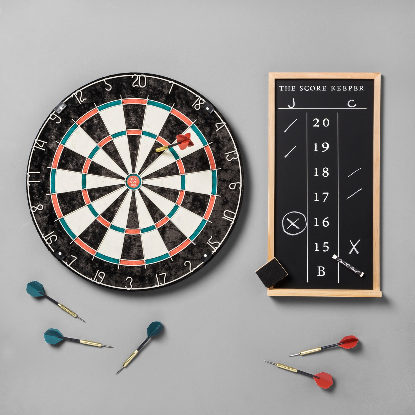 Dartboard Set Scoreboard