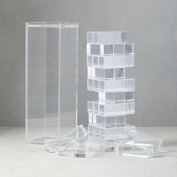 West Elm Christmas 2018.Deco Stacking Game West Elm Clear Jenga Katie Considers Blog