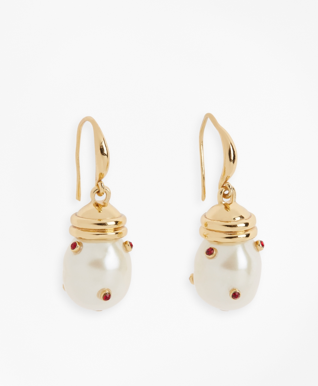 Gem Studded Pearl Drop Earring