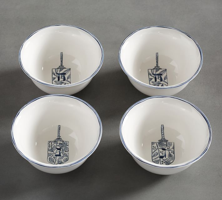 Hanukkah Celebration Soup Bowl