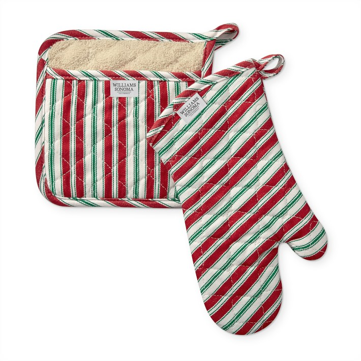 Striped Oven Mitt and Pot Holder