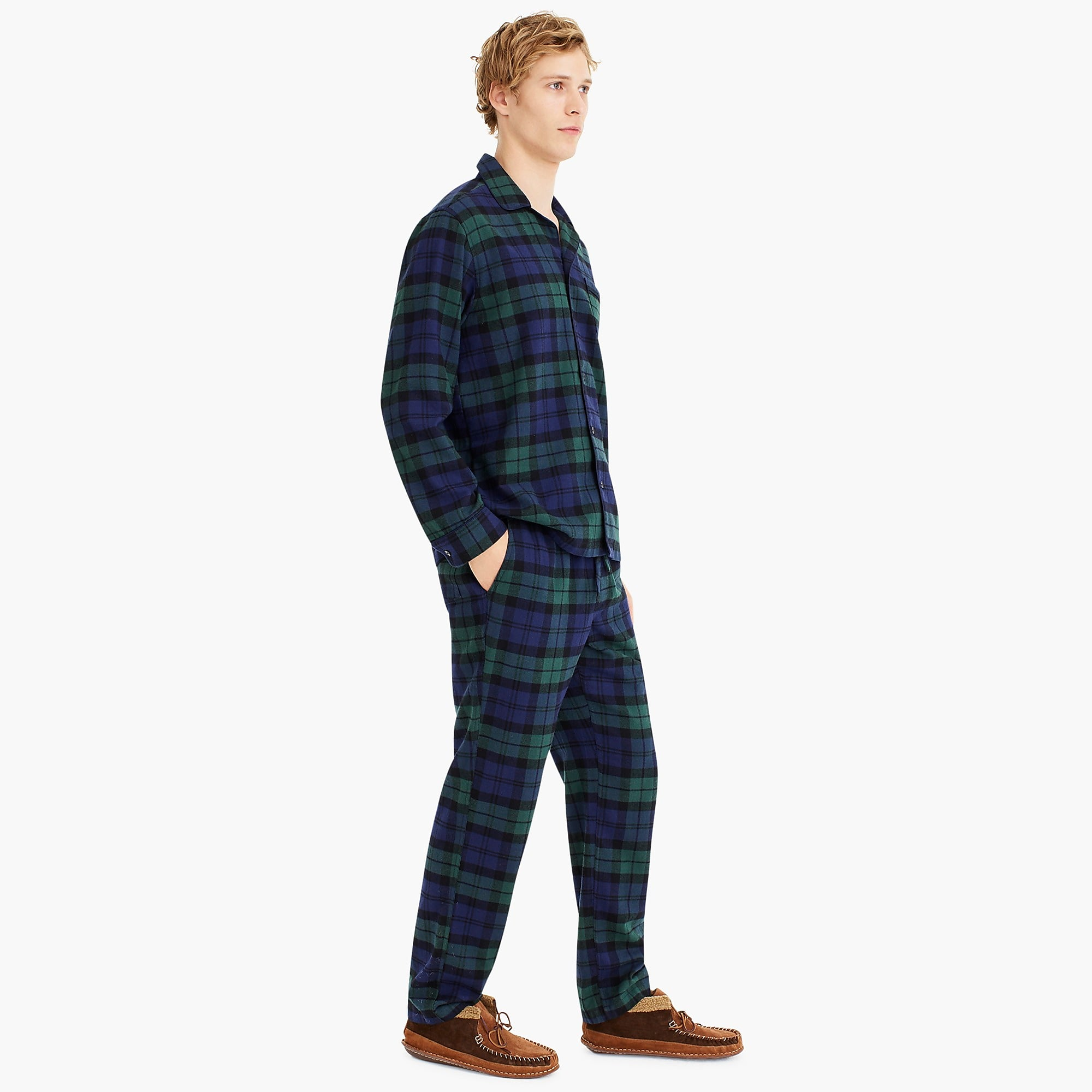 Flannel Button Up Pajama Set