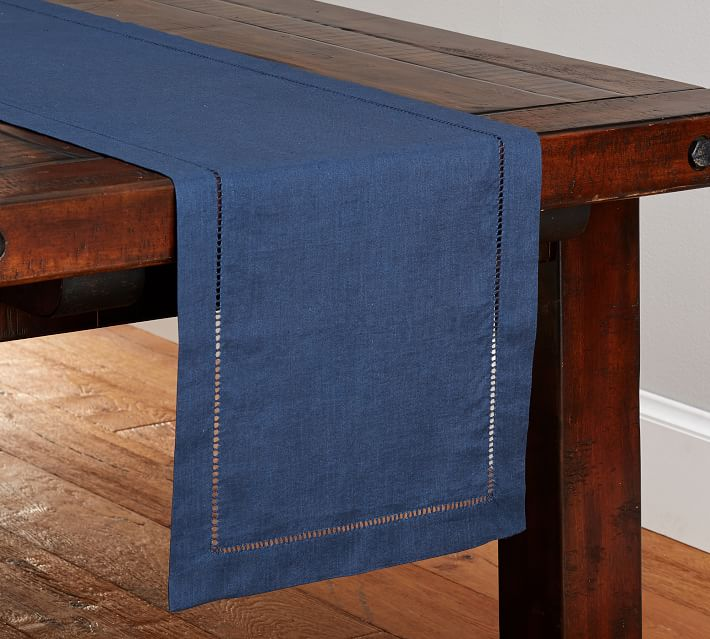 Blue Linen Table Runner