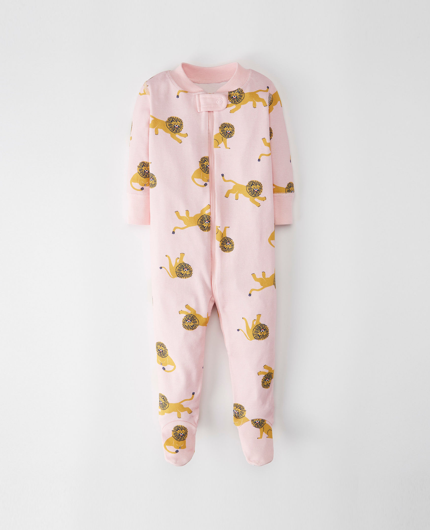 8681c5bec little-sleepers-with-feet-organic-cotton-hanna-andersson-lion-pink ...