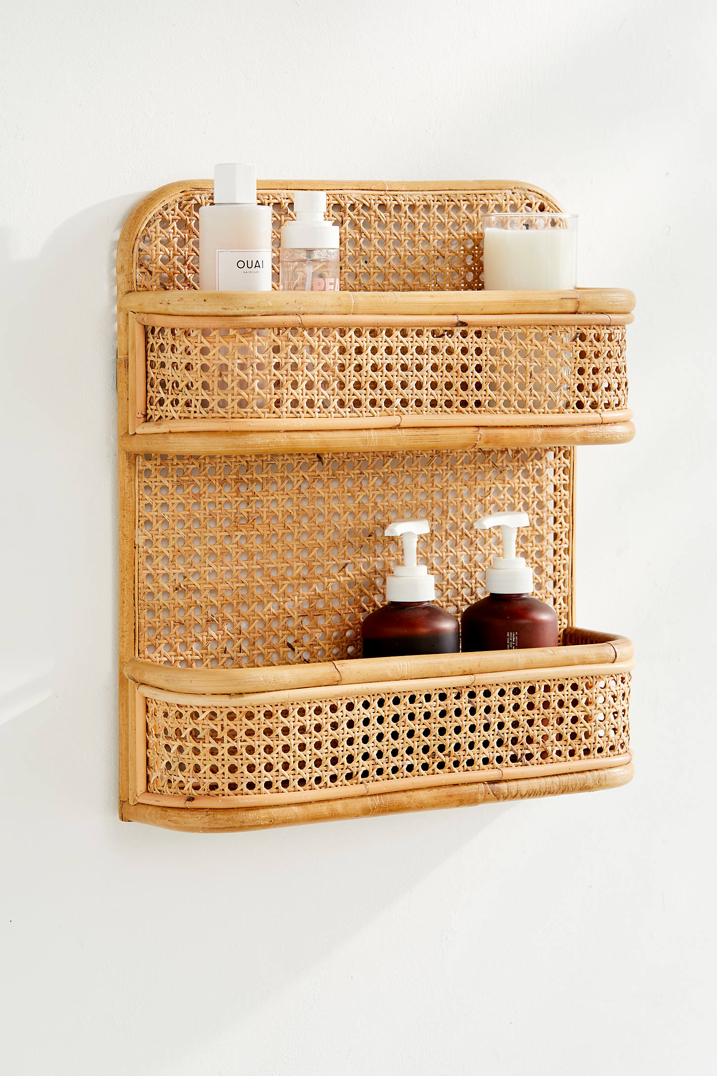Rattan Two Tiered Shelf