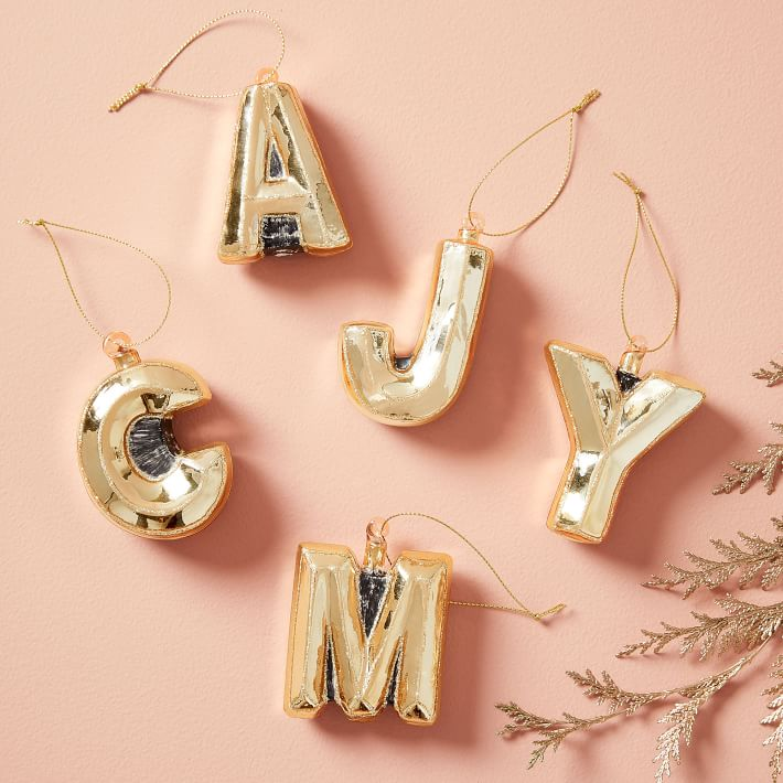 Glass Letter Ornaments