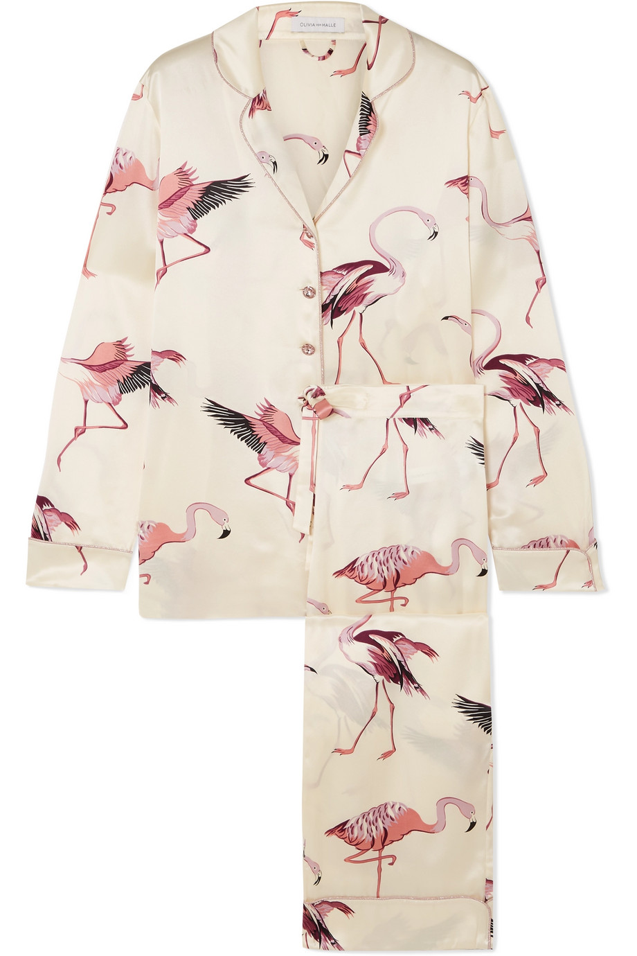 Flamingo Silk Pajama Set
