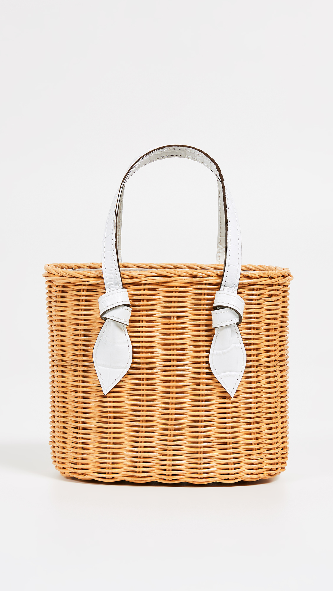 Wicker Bag with Leather Handles