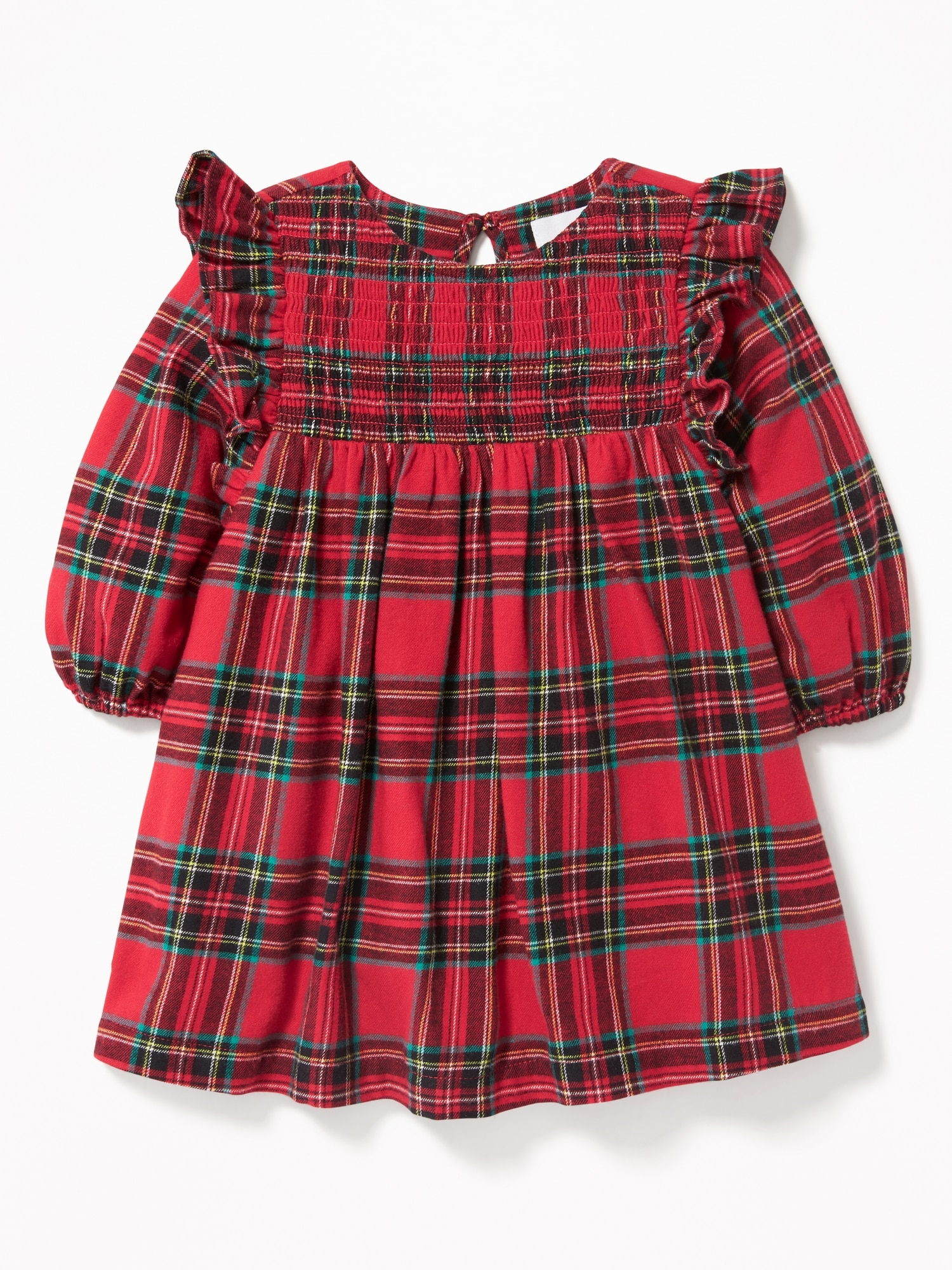 b017641d57e3d Holiday Party Outfits for Little Girls. Plaid Ruffle Trim Dress