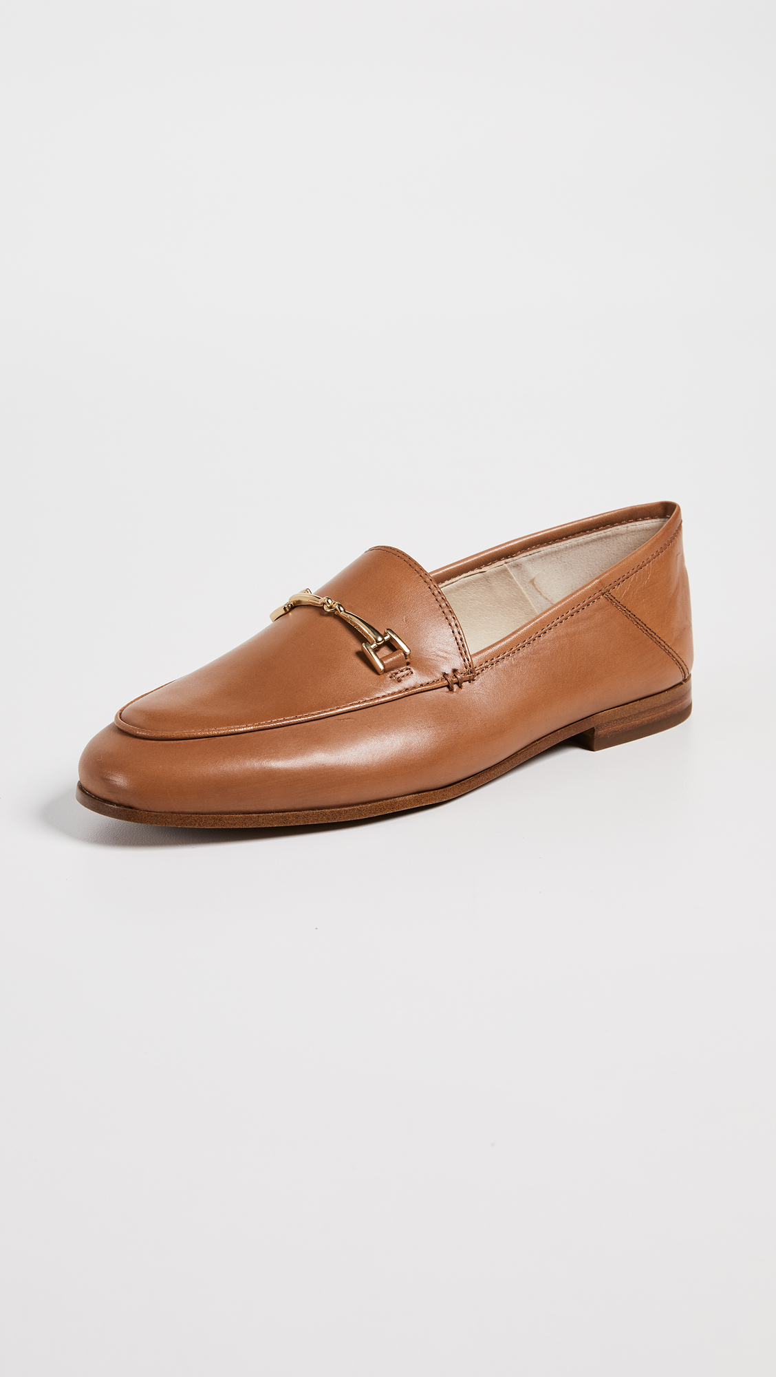 Leather with Gold Hardware Loafers