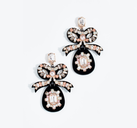 The Daily Hunt: Velvet Crystal Bow Earrings and More!