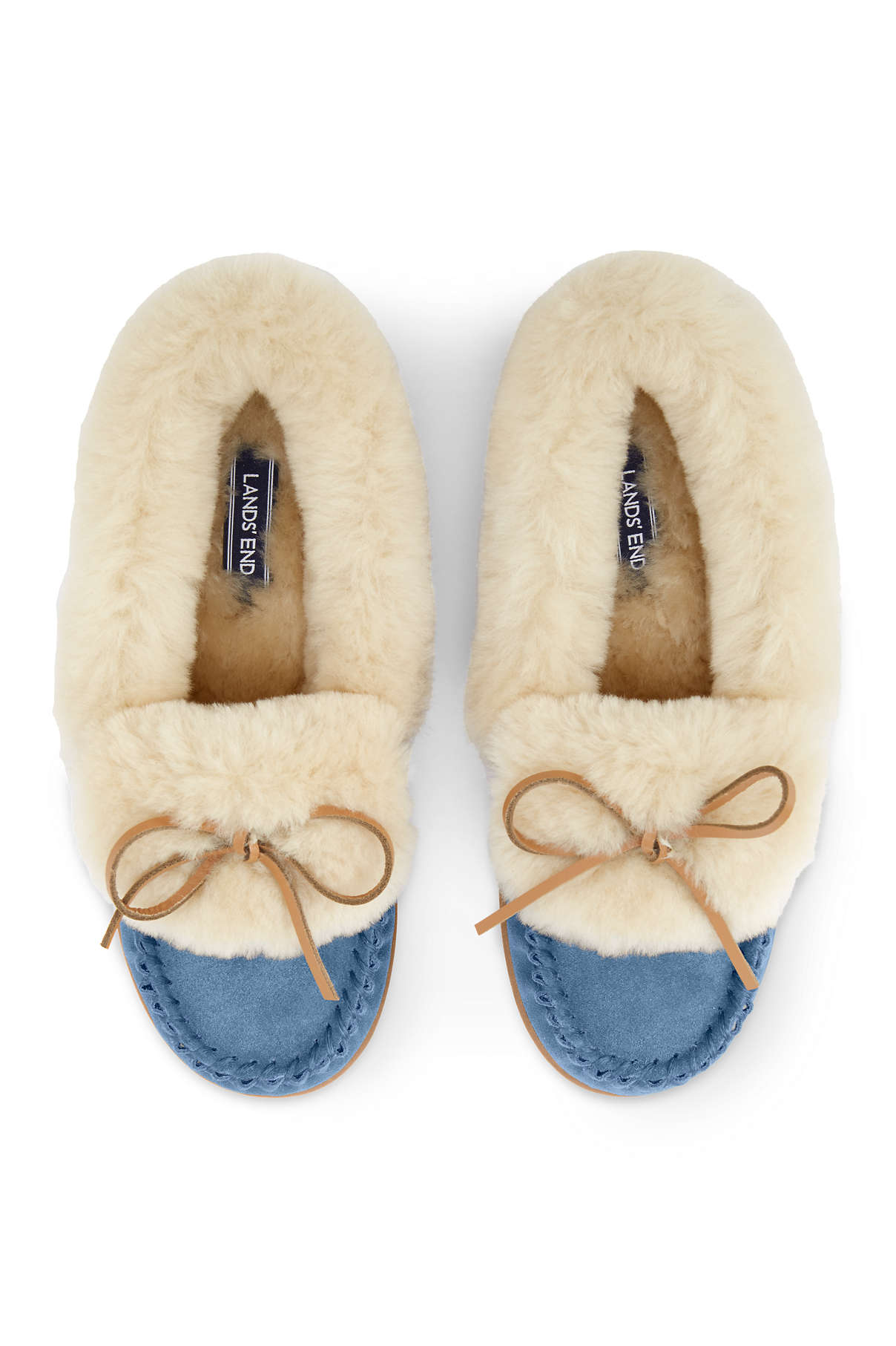 Shearling Moccasin Slippers