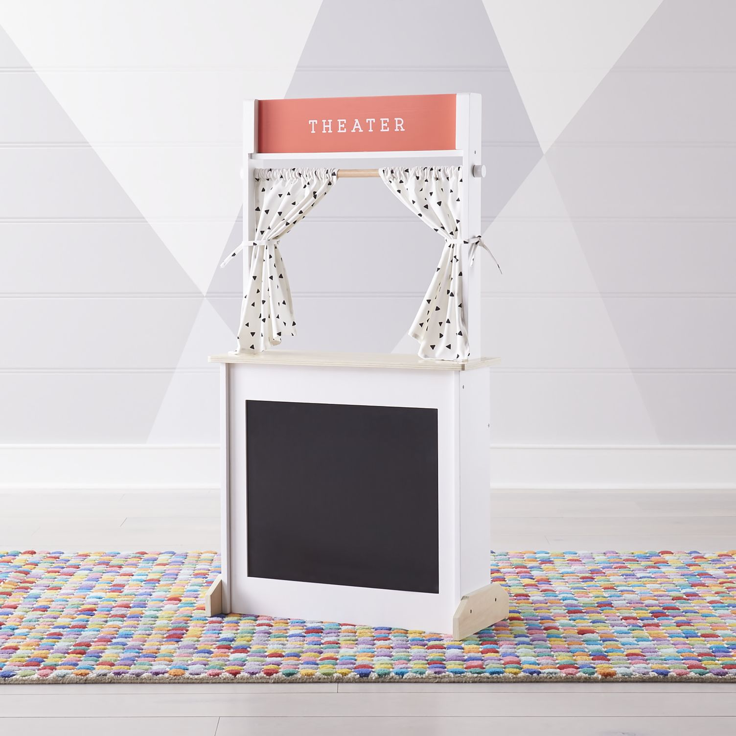 Wooden Theater Play Stand Kids'