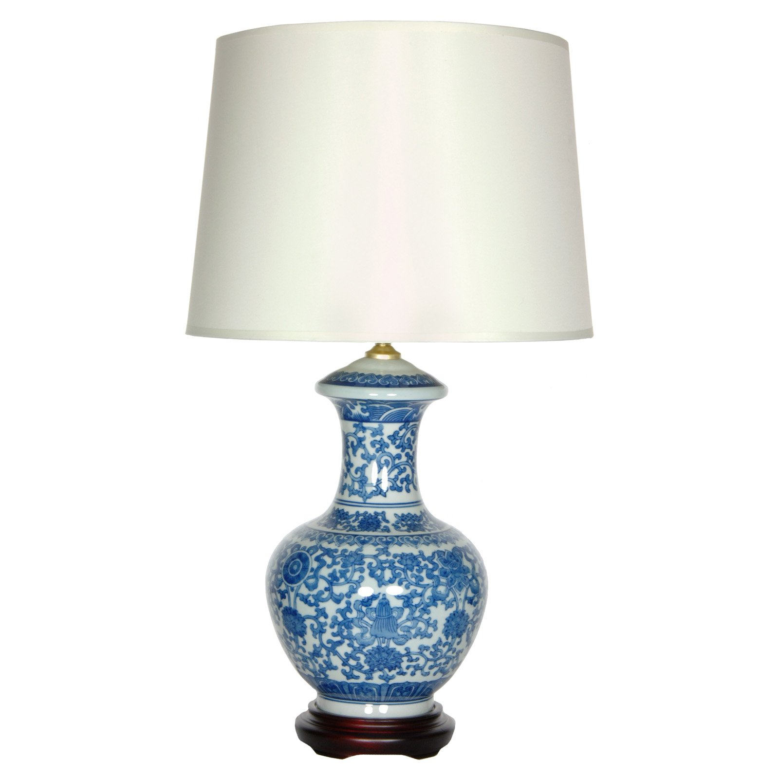 Blue and White Porcelain Vase Lamp