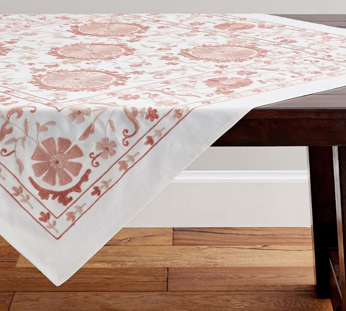 Arella Embroidered Tablethrow