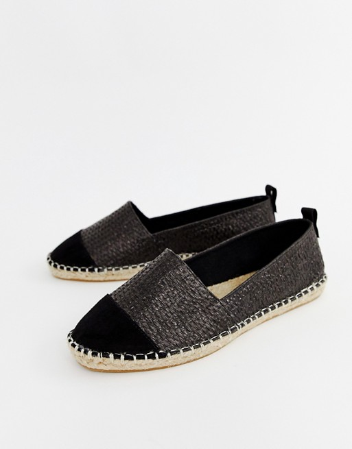 Black Weave Slip On