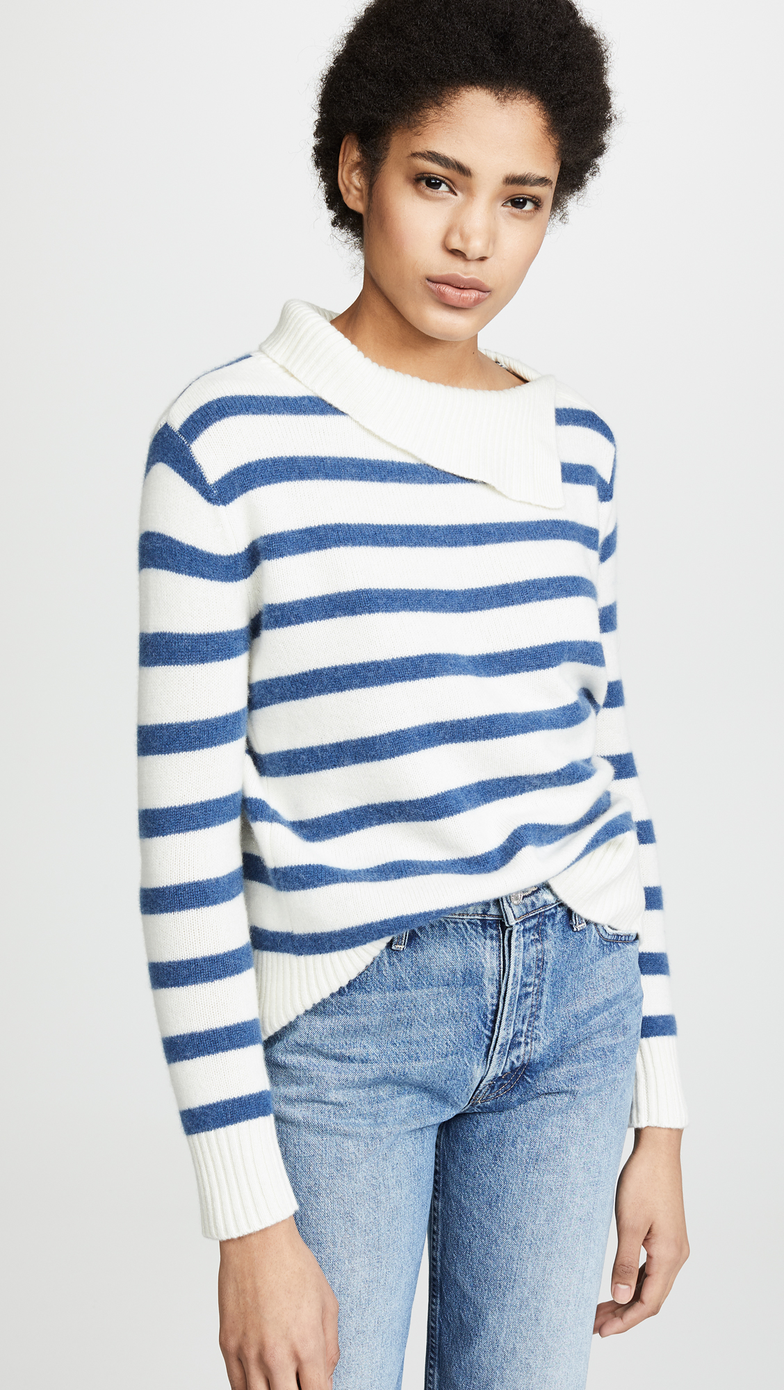 Billie Stripe Cashmere Sweater