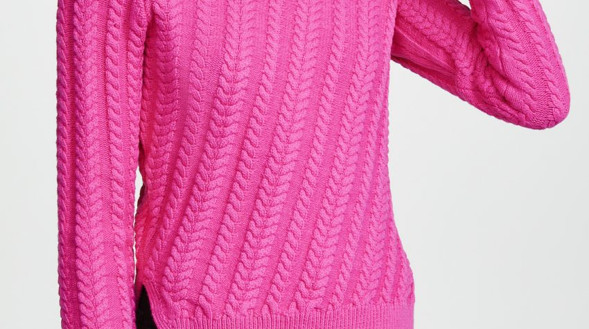 Hot Pink Crew Neck Sweater