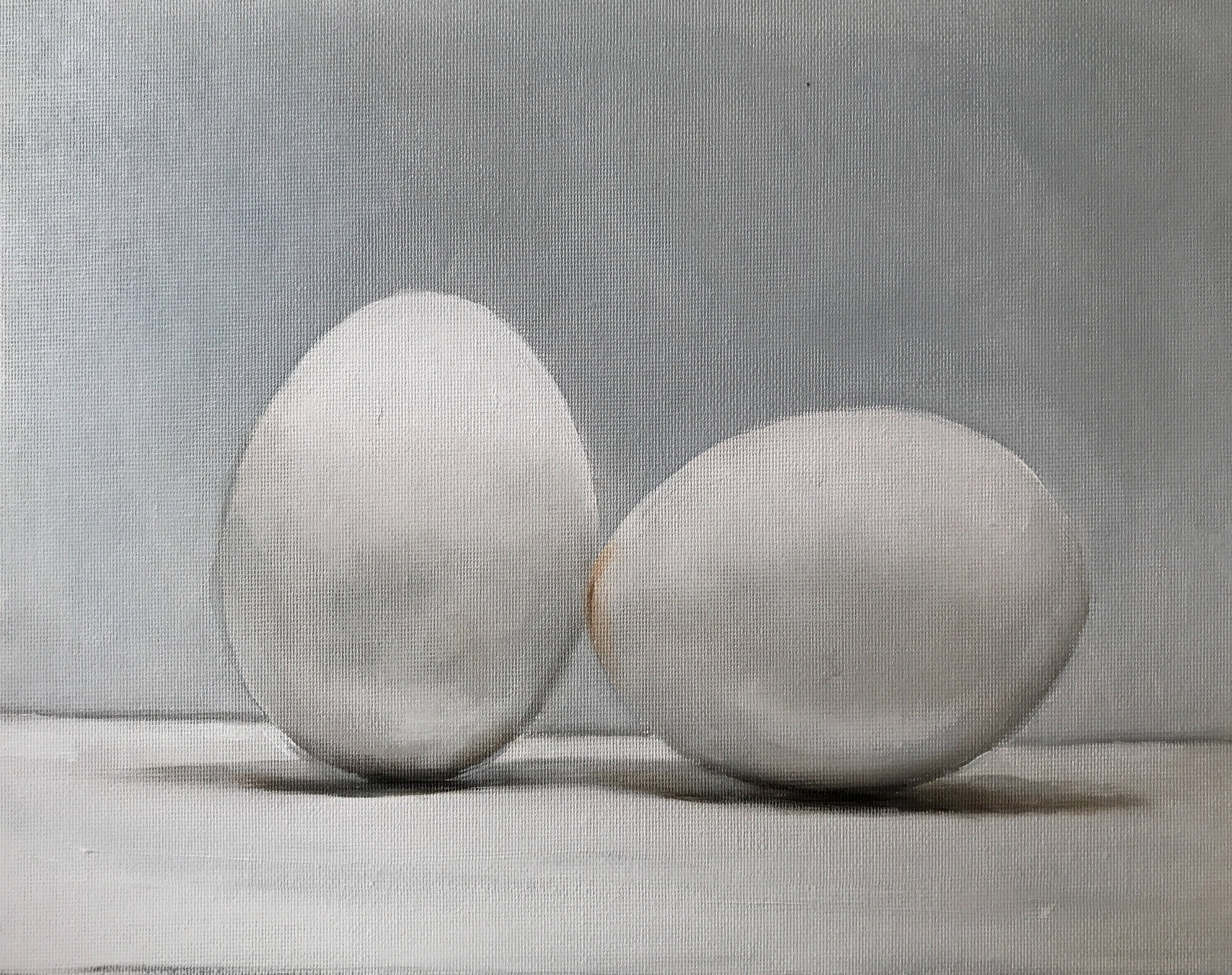 Gray Egg Painting