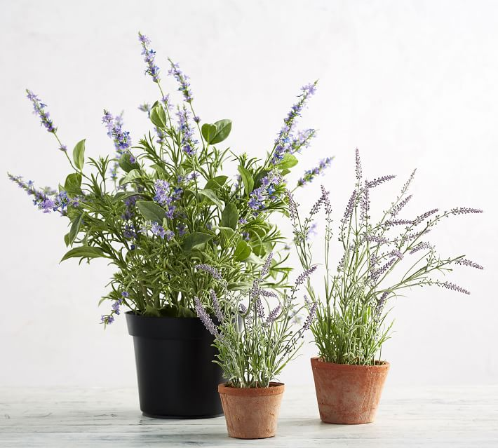 Faux Potted Lavendar