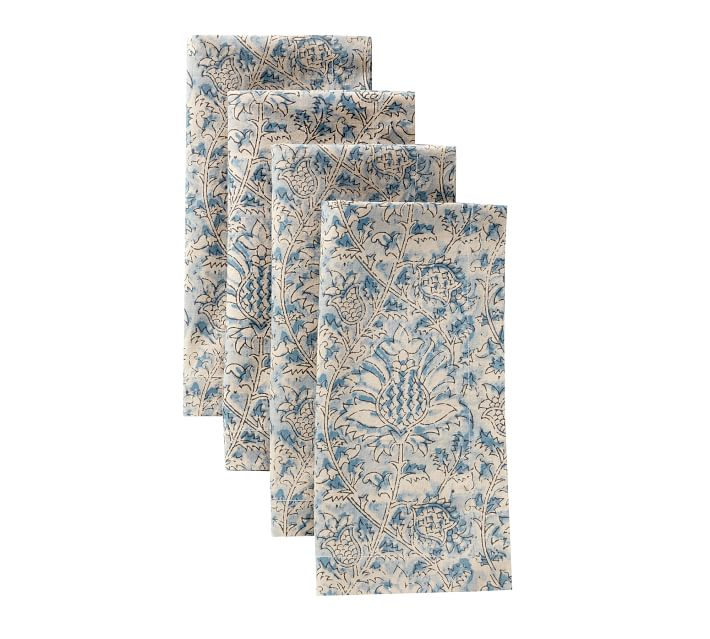 Larsa Kalamkari Napkins, Set of 4