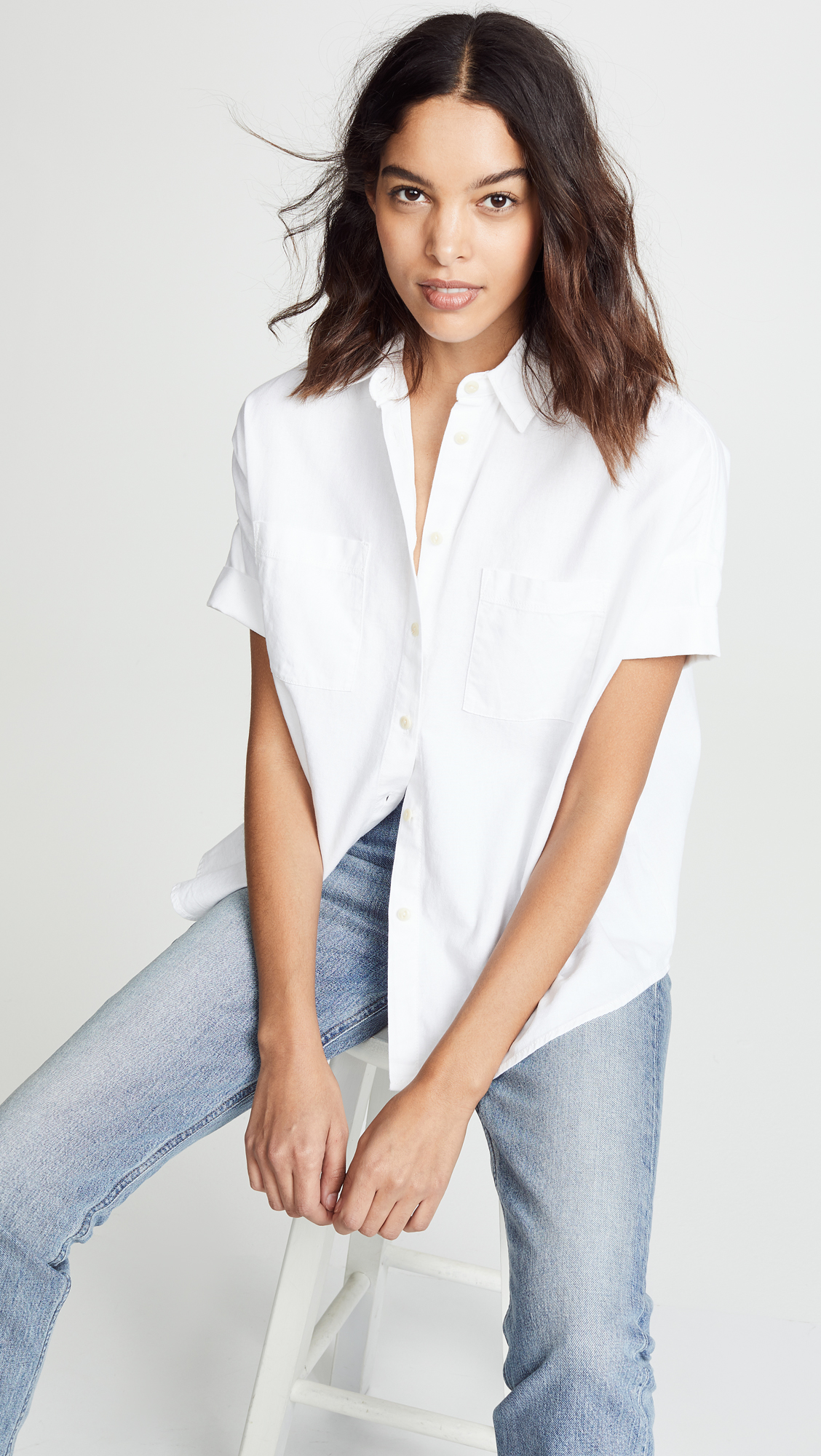 Pure White Courier Shirt