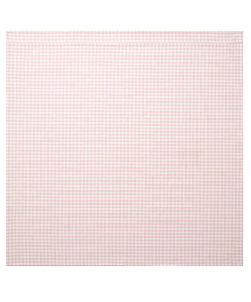 Pink Gingham Table Throw