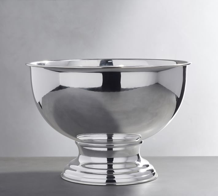Large Polished Silver Champagne Bowl