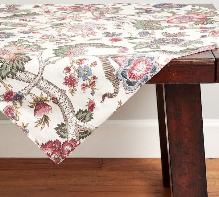 Pink Floral Table Throw