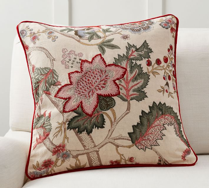 Resi Reversible Embroidered Pillow Cover
