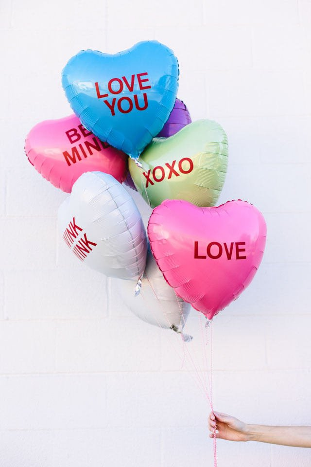 Personalized Heart Balloons