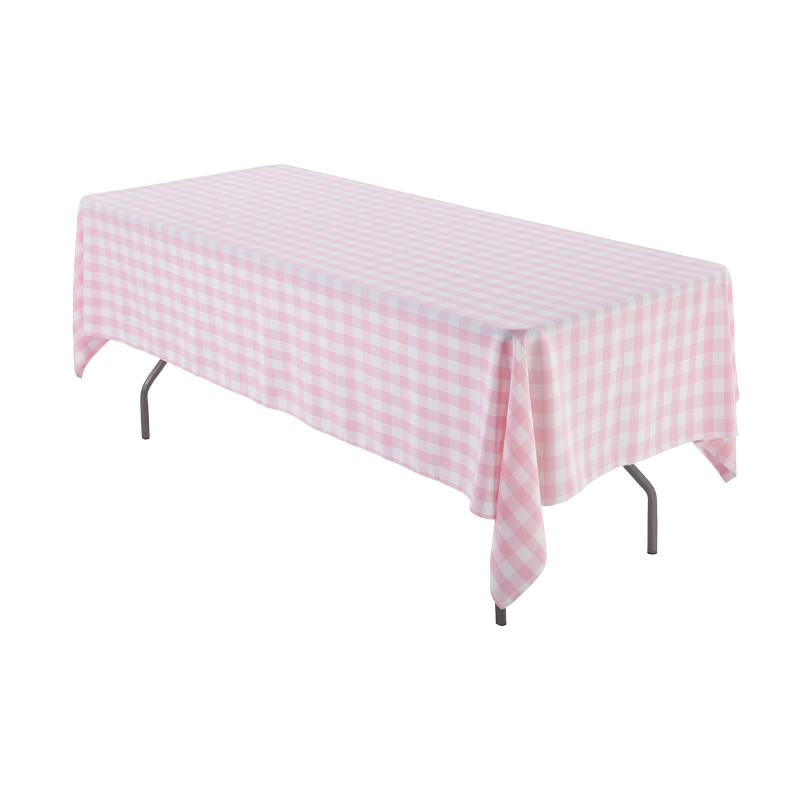Pink Gingham Table Cloth