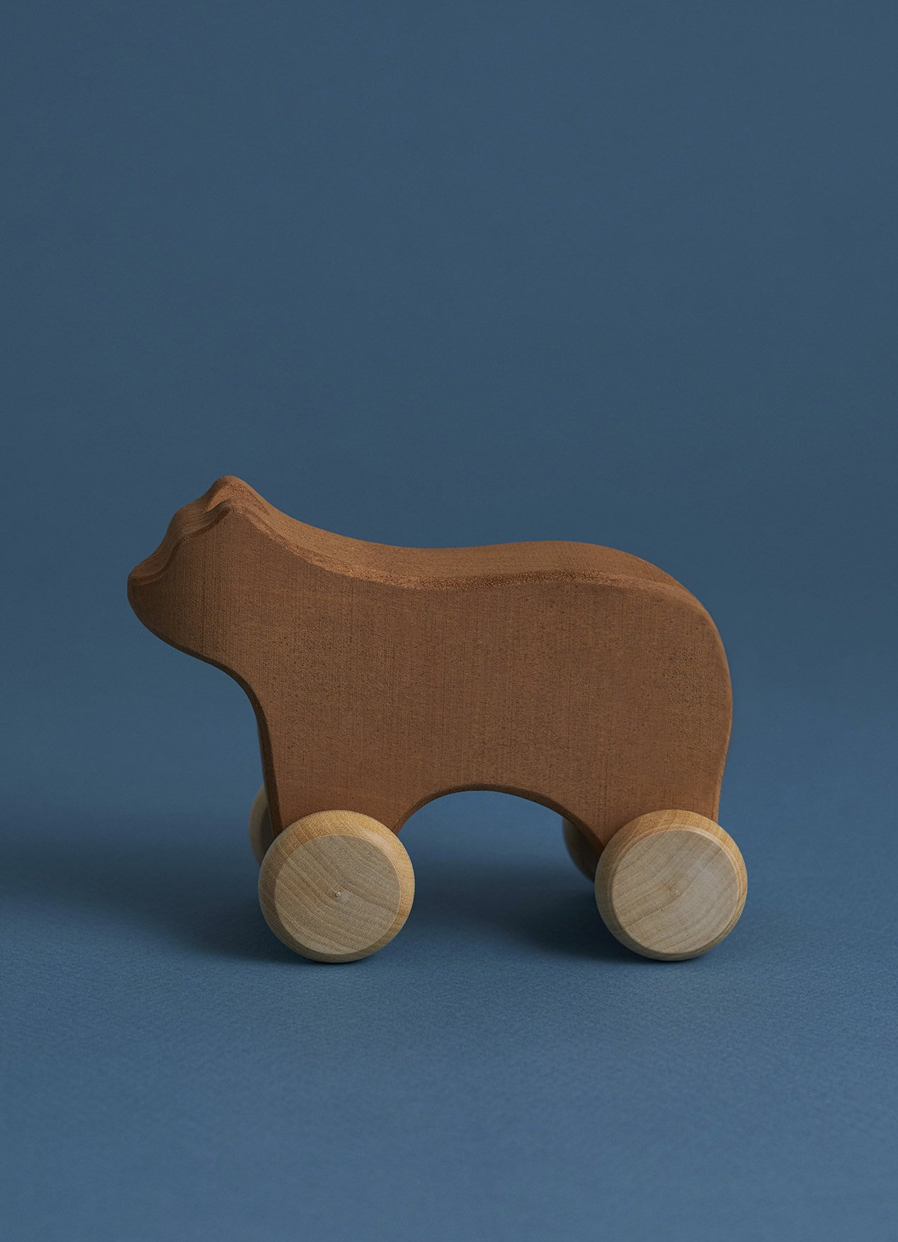Bear on Wheels Wooden Toy for Kids