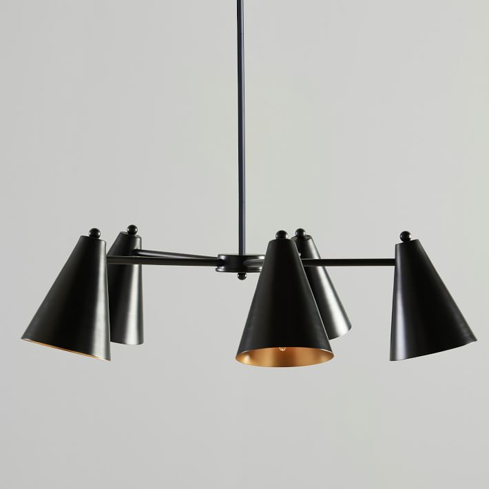 Cone Adjustable Chandelier