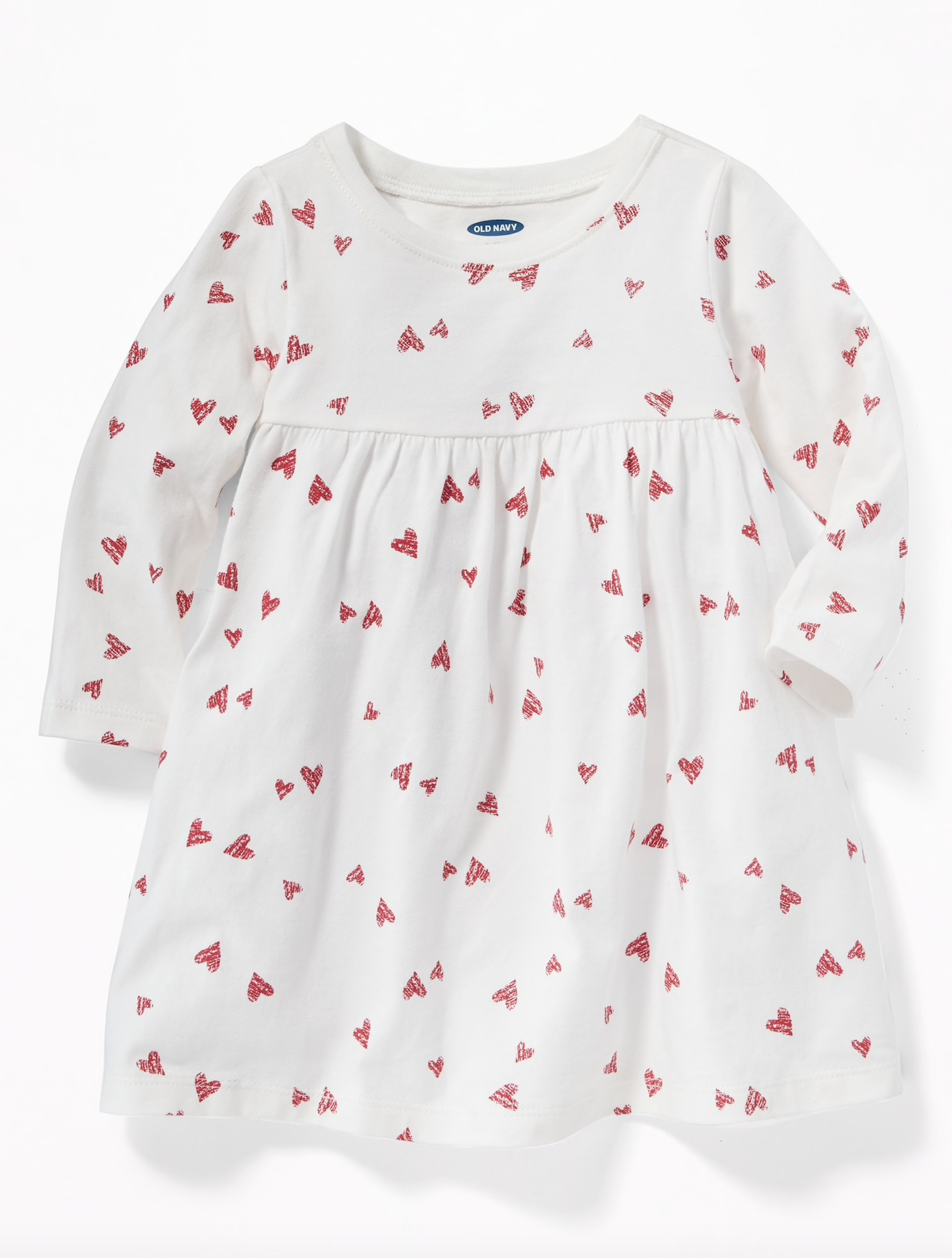 Empire Waist Heart Print Dress