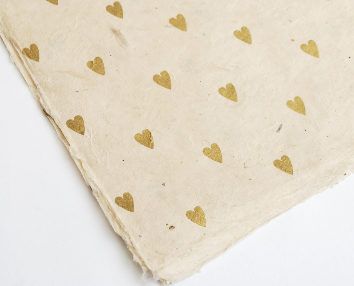 Gold Heart Gift Wrap